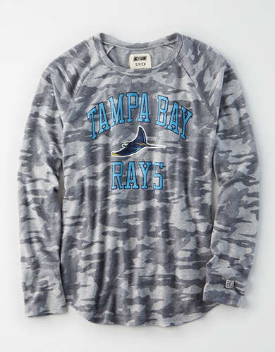 Tailgate Women's Tampa Bay Rays Plush Camo Shirt