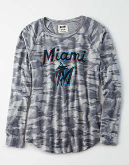 Tailgate Women's Miami Marlins Plush Camo Shirt