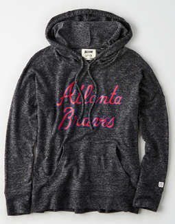 Tailgate Women's Atlanta Braves Plush Hoodie