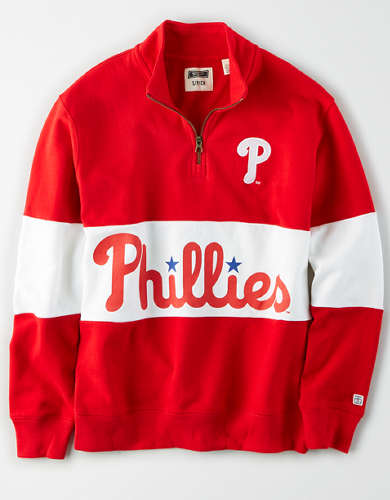 Tailgate Women's Philadelphia Phillies Half-Zip Sweatshirt