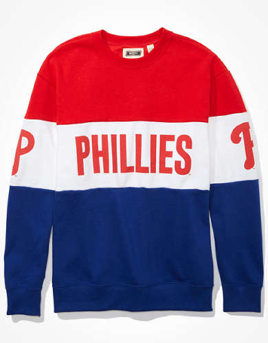 Tailgate Women's Philadelphia Phillies Colorblock Sweatshirt