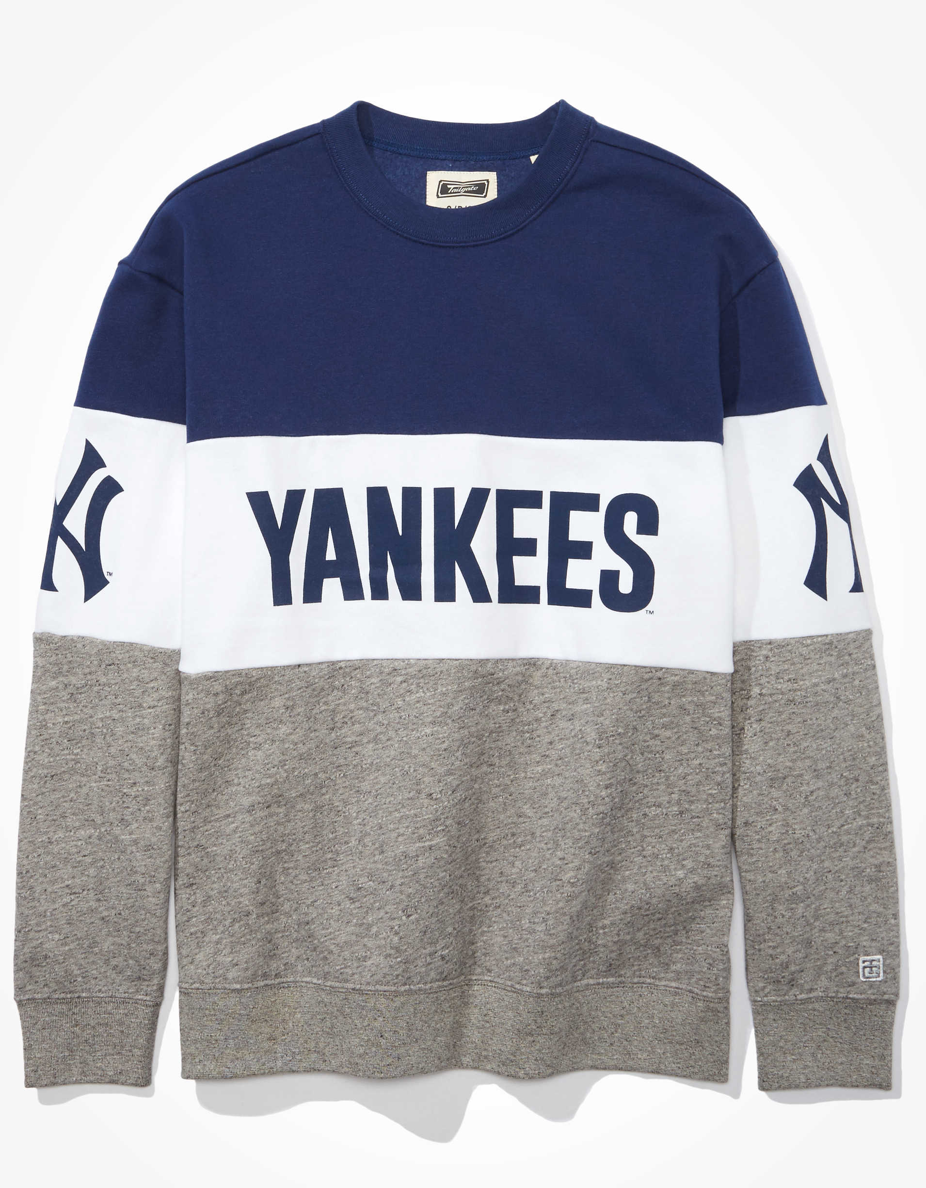 Tailgate Women's NY Yankees Colorblock Sweatshirt
