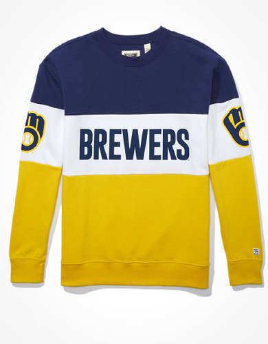 Tailgate Women's Milwaukee Brewers Colorblock Sweatshirt