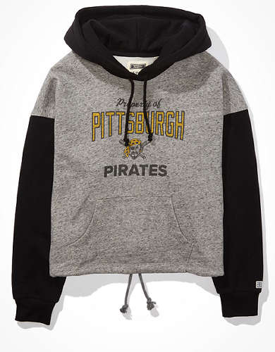 Tailgate Women's Pittsburgh Pirates Colorblock Cropped Hoodie