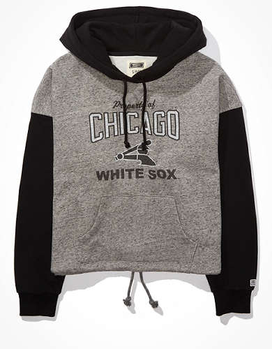 Tailgate Women's Chicago White Sox Colorblock Cropped Hoodie