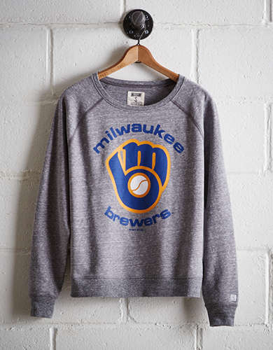 Tailgate Women's Milwaukee Brewers Crew Sweatshirt - Free Returns