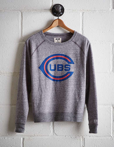 Tailgate Women's Chicago Cubs Crew Sweatshirt - Free Returns