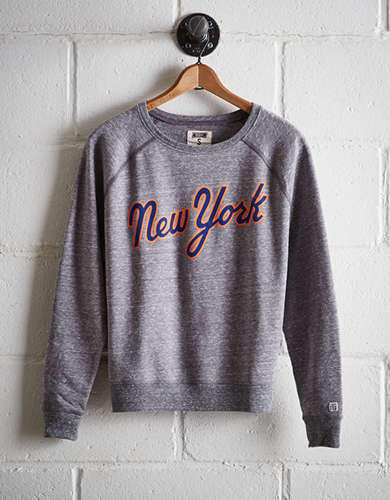 Tailgate Women's New York Mets Crew Sweatshirt - Free Returns