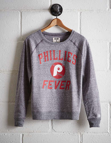 Tailgate Women's Philadelphia Phillies Crew Sweatshirt - Free Returns