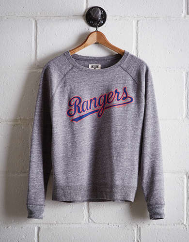 Tailgate Women's Texas Rangers Crew Sweatshirt - Free Returns