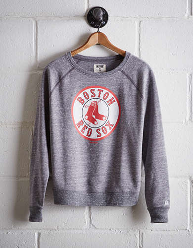 Tailgate Women's Boston Red Sox Crew Sweatshirt - Free Returns