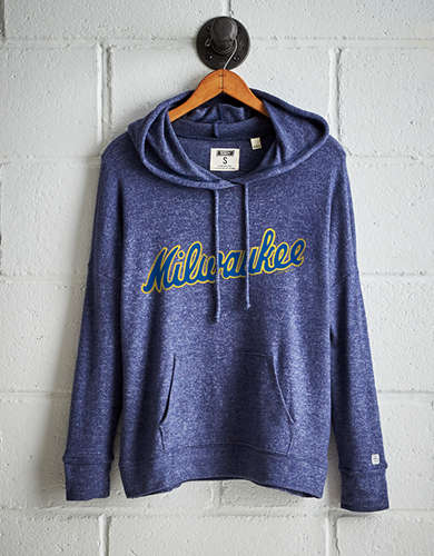 Tailgate Women's Milwaukee Brewers Plush Hoodie - Free Returns