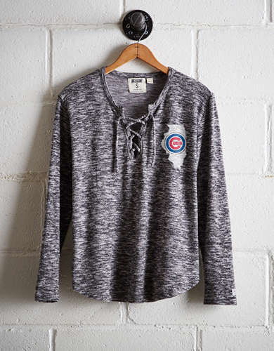 Tailgate Women's Chicago Cubs Plush Tee