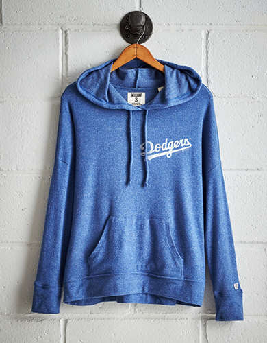 Tailgate Women's Los Angeles Dodgers Plush Hoodie - Free Returns