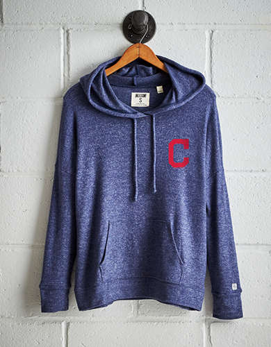 Tailgate Women's Cleveland Indians Plush Hoodie - Buy One Get One 50% Off