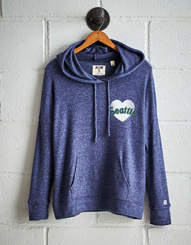 Tailgate Women's Seattle Mariners Plush Hoodie - Free Returns
