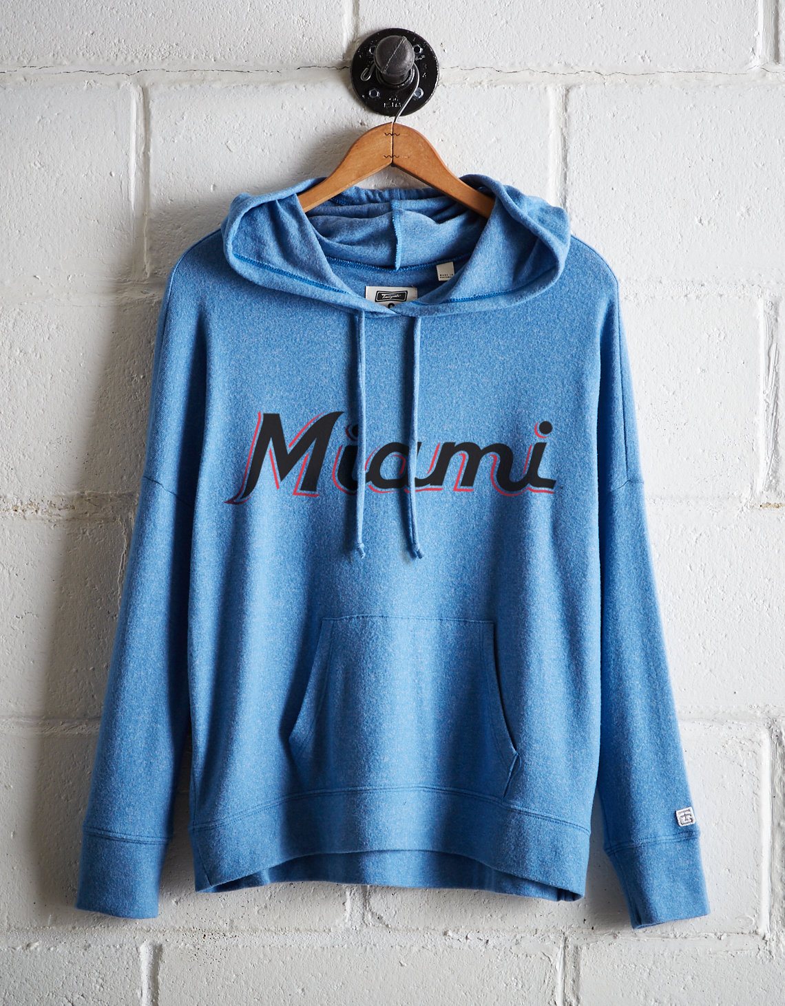 reputable site f72f8 aae2d Tailgate Women's Miami Marlins Plush Hoodie