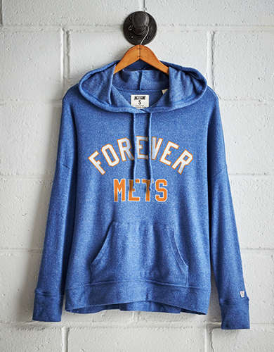 Tailgate Women's New York Mets Plush Hoodie - Free Returns