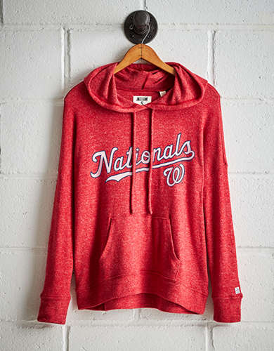 Tailgate Women's Washington Nationals Plush Hoodie - Buy One Get One 50% Off