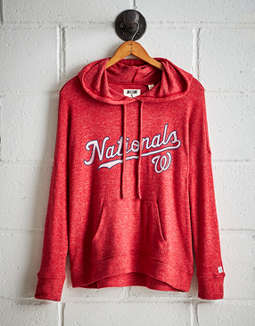 Tailgate Women's Washington Nationals Plush Hoodie