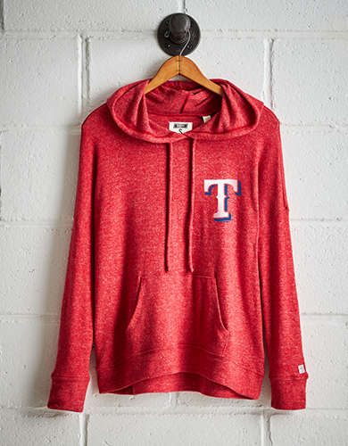 Tailgate Women's Texas Rangers Plush Hoodie - Free Returns