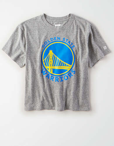 Tailgate Women's Golden State Warriors Cropped T-Shirt