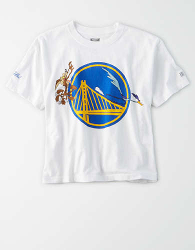 Tailgate Women's Golden State Warriors x Looney Tunes Cropped T-Shirt