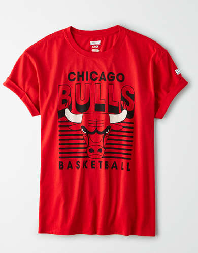 Tailgate Women's Chicago Bulls Rolled Sleeve T-Shirt