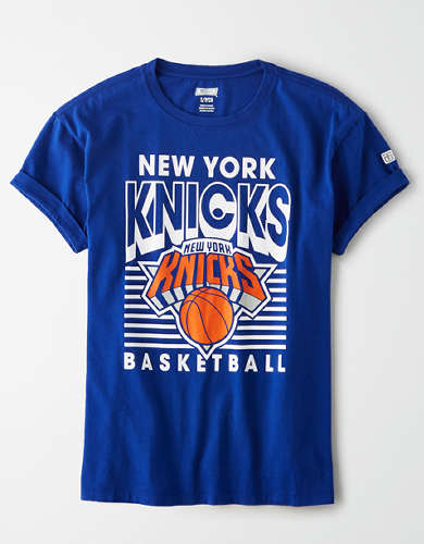 Tailgate Women's NY Knicks Rolled Sleeve T-Shirt