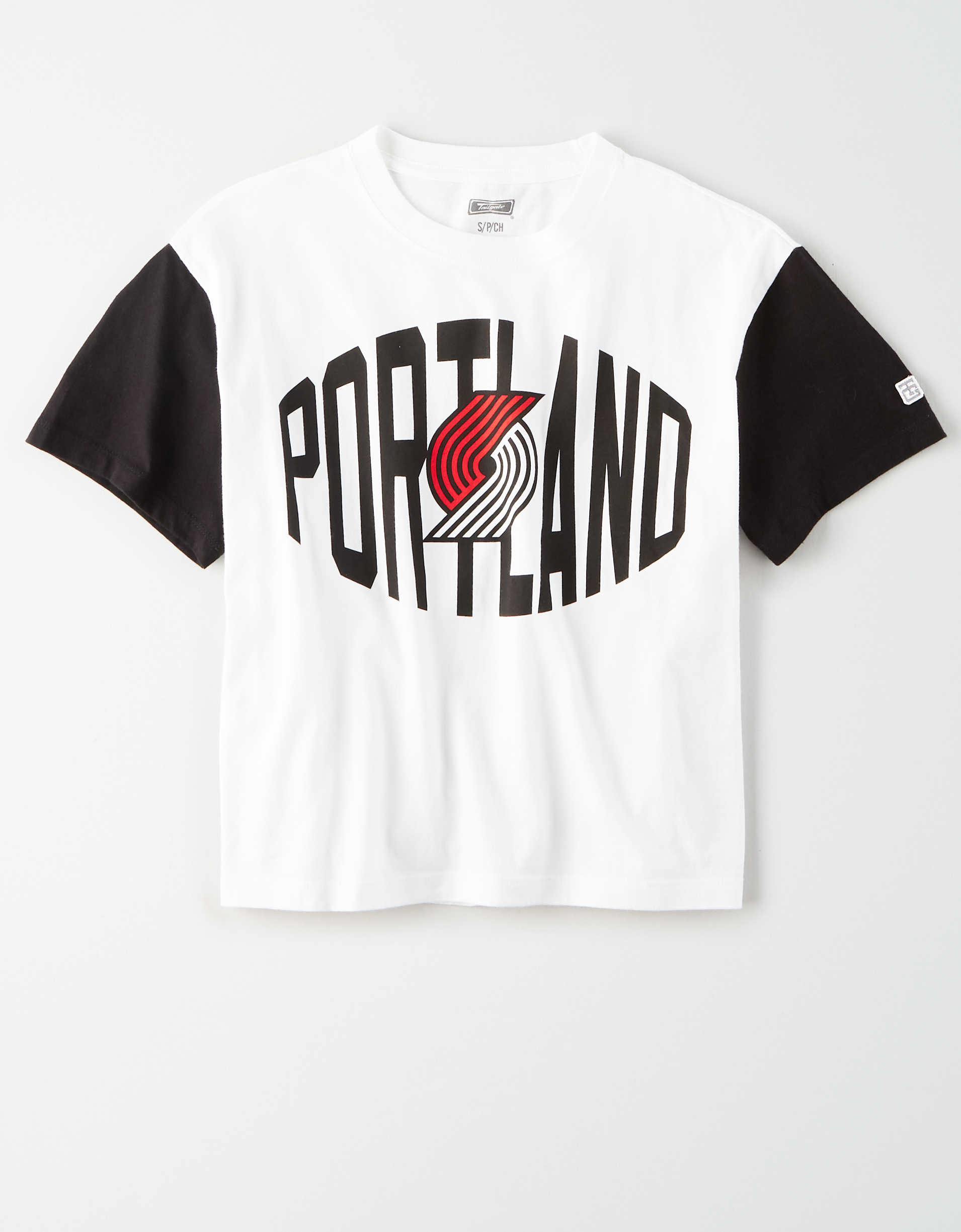 Tailgate Women's Portland Trailblazers Cropped T-Shirt