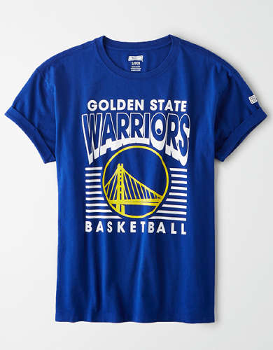 Tailgate Women's Golden State Warriors Rolled Sleeve T-Shirt