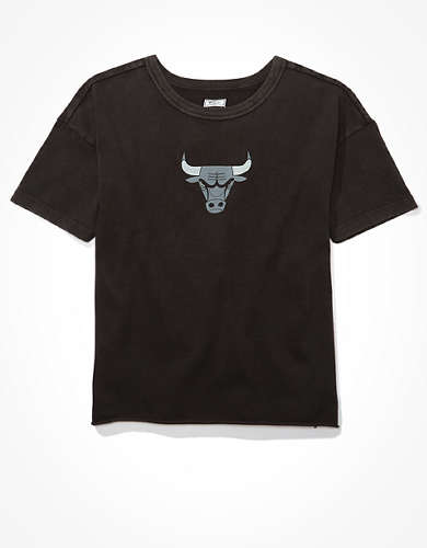Tailgate Women's Chicago Bulls Cropped T-Shirt