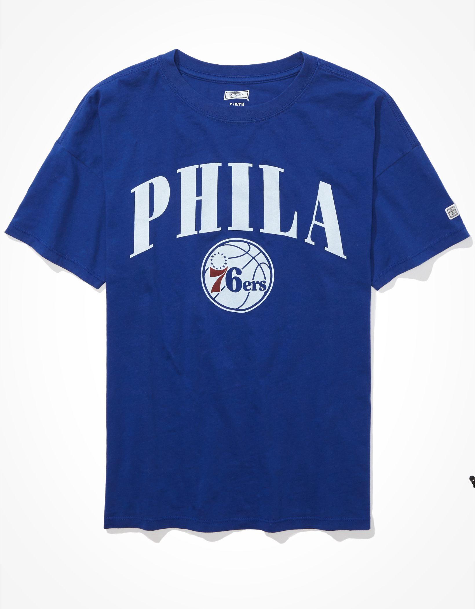 Tailgate Women's Philadelphia 76ers Oversized T-Shirt
