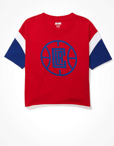Tailgate Women's Los Angeles Clippers Colorblock T-Shirt