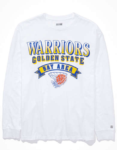 Tailgate Women's Golden State Warriors Long Sleeve Oversized T-Shirt