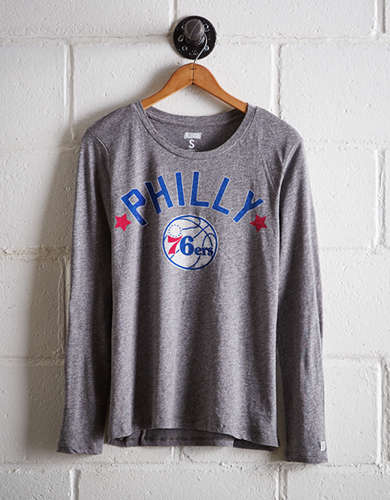 Tailgate Women's Philly 76ers Long Sleeve T-Shirt - Free Returns