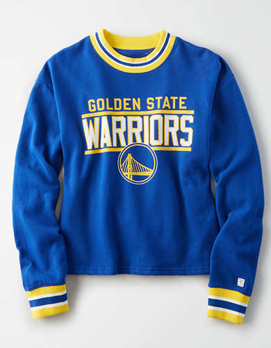 Tailgate Women's Golden State Warriors Cropped Sweatshirt