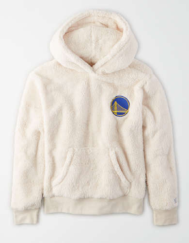 Tailgate Women's Golden State Warriors Fuzzy Sherpa Hoodie