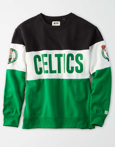Tailgate Women's Boston Celtics Colorblock Sweatshirt