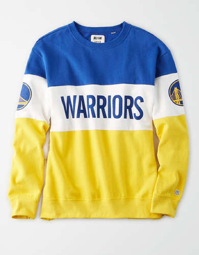 Tailgate Women's Golden State Warriors Colorblock Sweatshirt