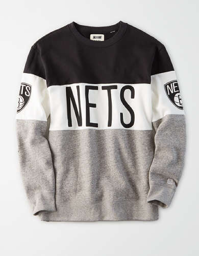 Tailgate Women's Brooklyn Nets Colorblock Sweatshirt