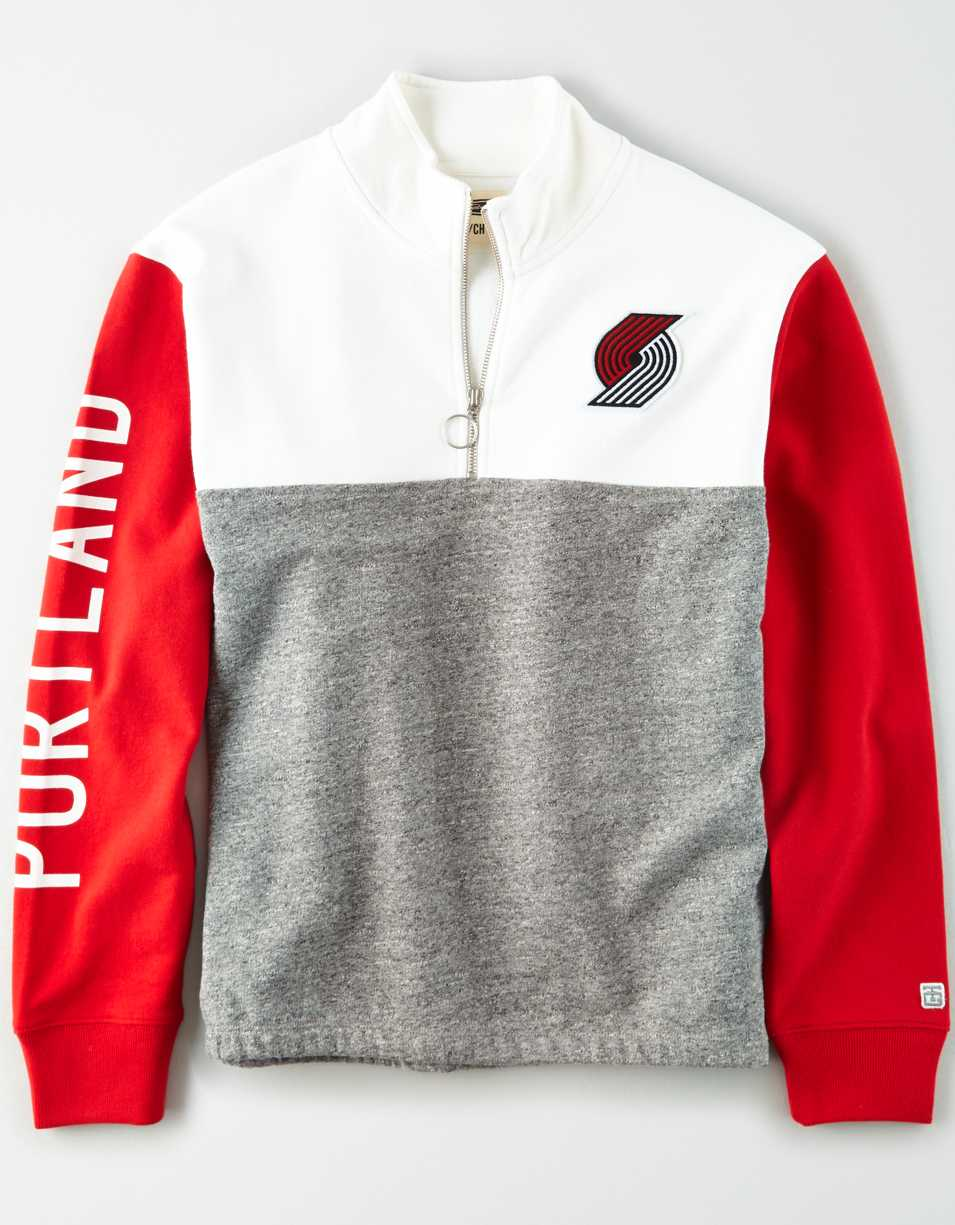 Tailgate Women's Portland Trailblazers Quarter-Zip Sweatshirt
