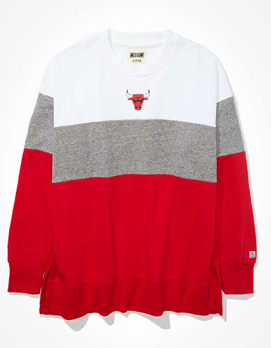 Tailgate Women's Chicago Bulls Colorblock Sweatshirt