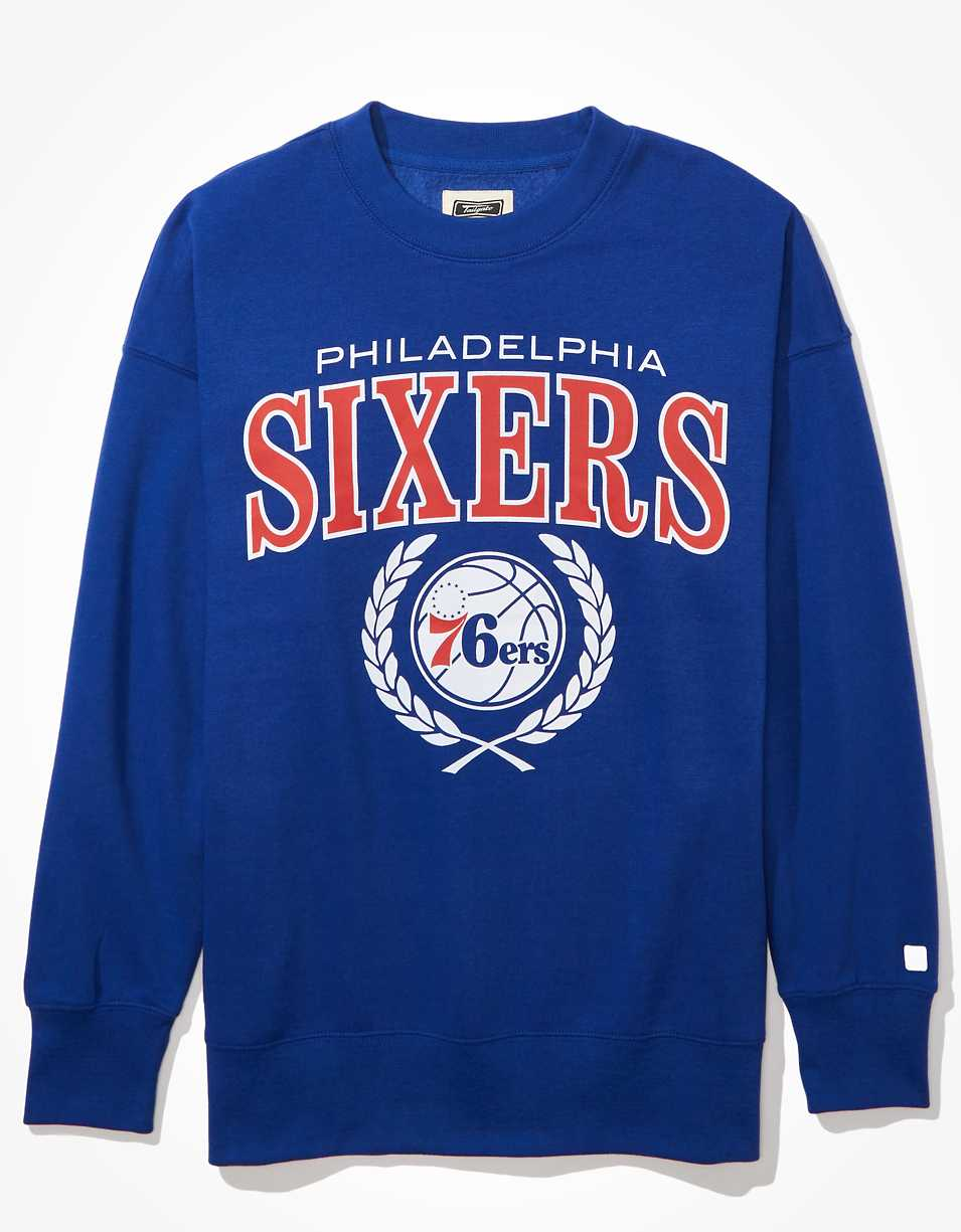 Tailgate Women's Philadelphia 76ers Oversized Fleece Sweatshirt