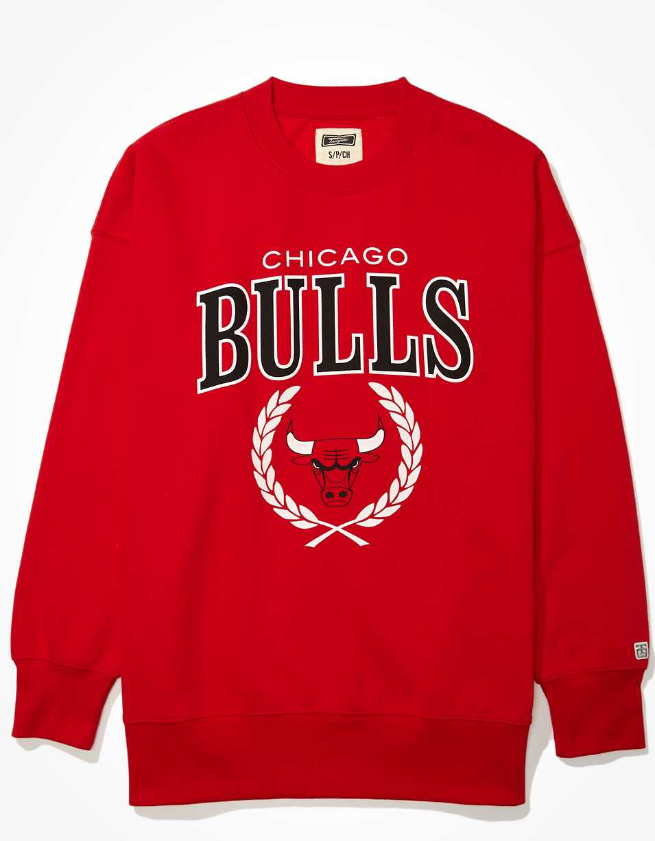 Tailgate Women's Chicago Bulls Oversized Fleece Sweatshirt