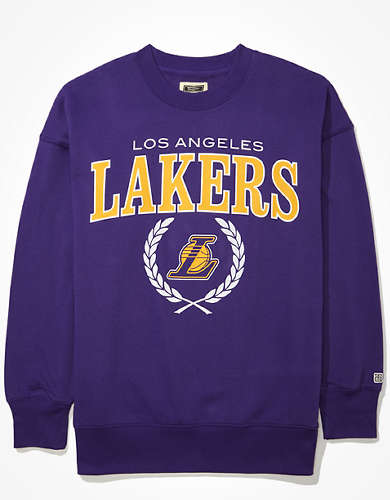 Tailgate Women's LA Lakers Oversized Fleece Sweatshirt