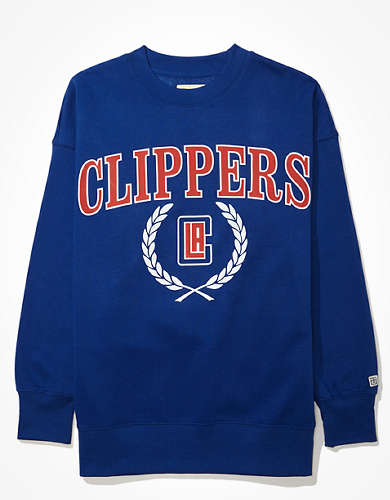 Tailgate Women's LA Clippers Oversized Fleece Sweatshirt