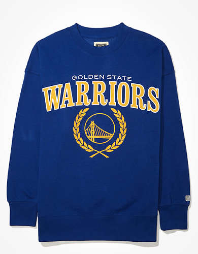 Tailgate Women's Golden State Warriors Oversized Fleece Sweatshirt