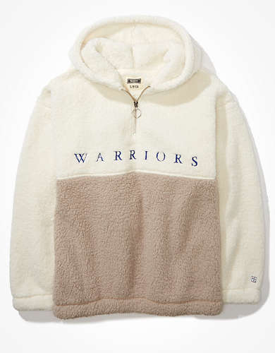 Tailgate Women's Golden State Warriors Colorblock Sherpa Hoodie