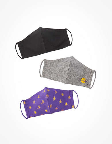 Tailgate Reusable LA Lakers Masks 3-Pack